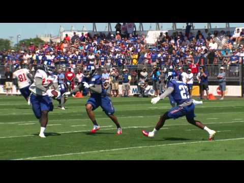 Ryan Nassib connects with Dwayne Harris