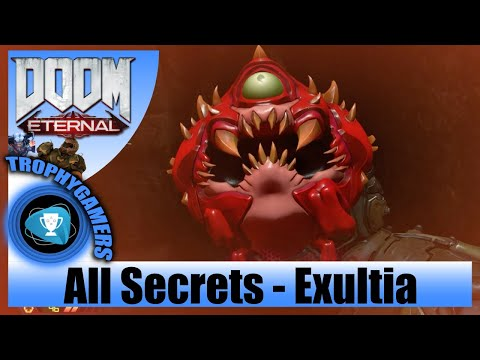 DOOM Eternal - Exultia: All Secret Collectible Locations - Modbot - Codex - Toys - Cheat Codes