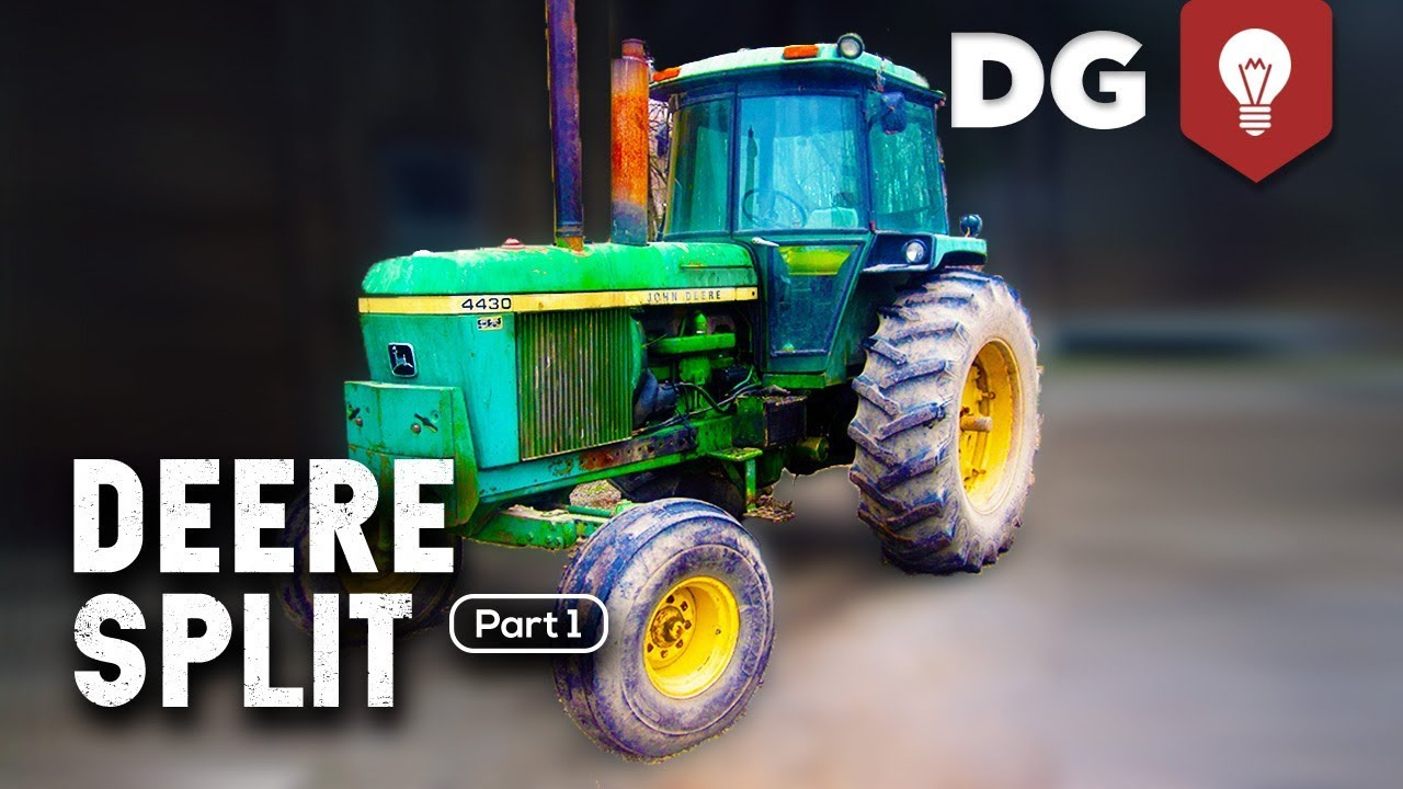 hight resolution of how to split a john deere tractor 4430 part 1