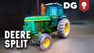 How To Split A John Deere Tractor (4430 Part 1)