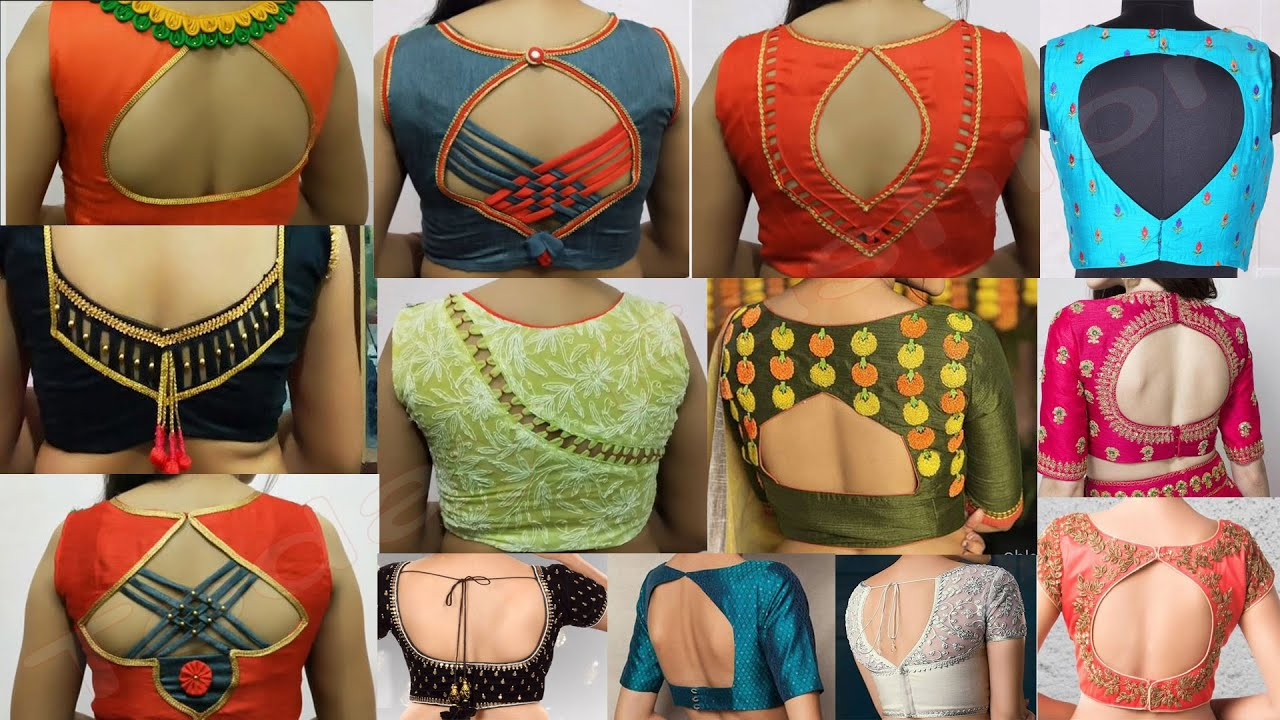 awesome simple backneck blouse designs 2021   Latest Blouse Designs   Today Fashion
