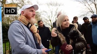 Baseless Cries! Hamza Vs Christian Lady   Speakers Corner   Hyde Park