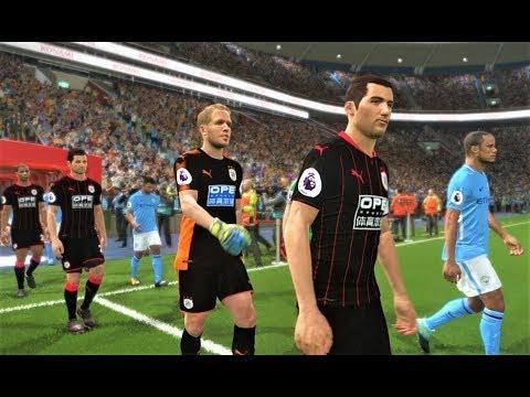 Manchester City vs Huddersfield Town 2018   Full Match   PES 2018 Gameplay HD