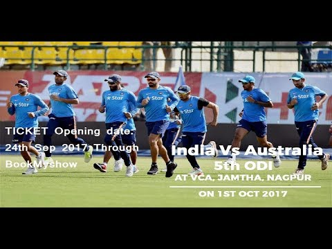 India Vs Australia 5th ODI Match at Nagpur Ticket Booking Details