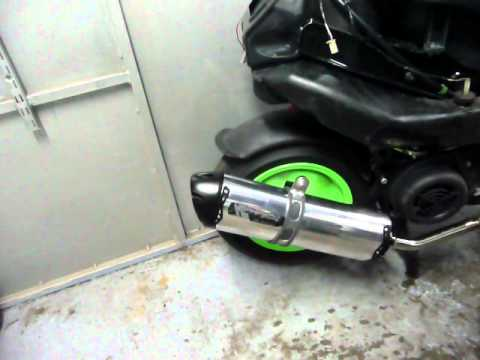 piaggio zip 190cc with exhaust two brothers m2 v.a.l.e. - youtube