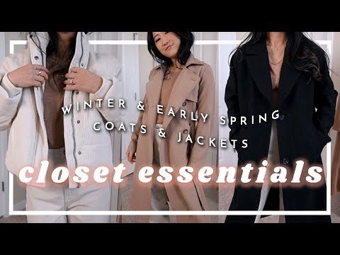 winter & early spring closet essentials | MUST-HAVE COATS & JACKETS ✖︎ Amy Sun