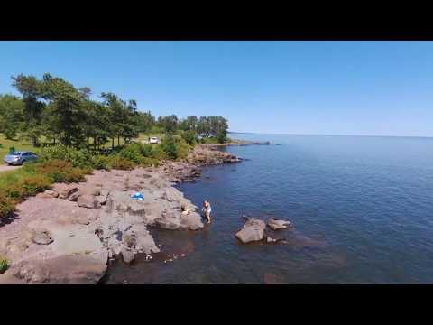 Brighton Beach In Duluth, Minnesota (Drone Video)