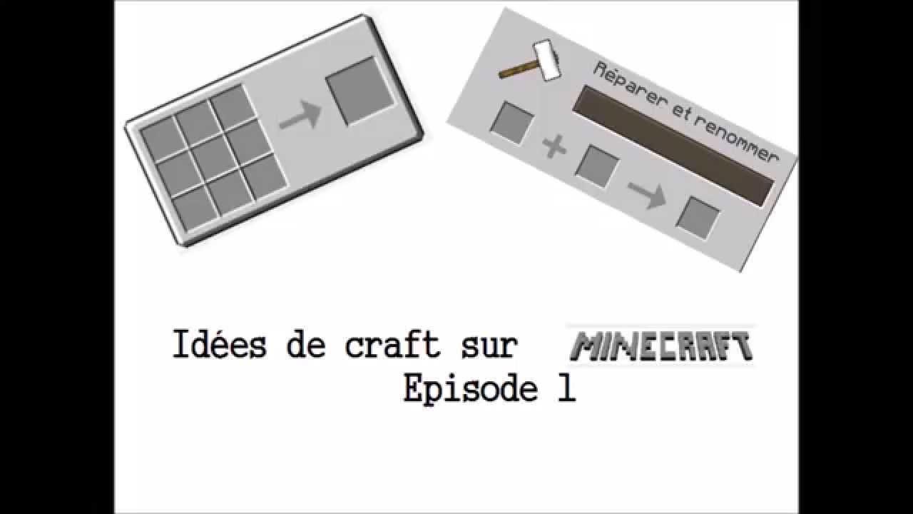 Idees De Craft Dans Minecraft Ep1 Processeur Carte Memoire Livre Des Crafts