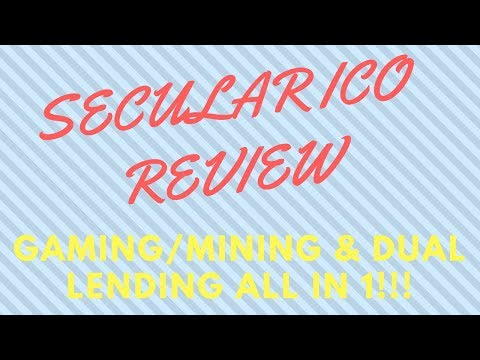 SECULAR COIN ICO REVIEW!!! GAMING MINING & DUAL LENDING ALL IN 1!!!