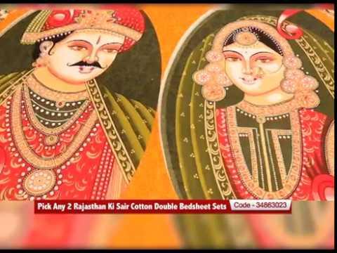 b3166fb91f Pick Any 2 Rajasthan Ki Sair Cotton Double Bedsheet Sets - YouTube