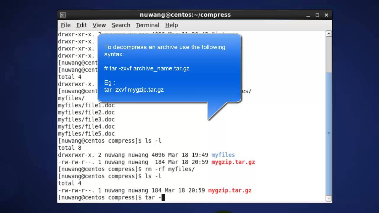 gz and bz2 - Compress a directory in Linux | TechwithGuru