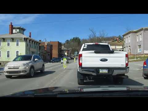 Brookville PA downtown driving