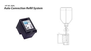How to Refill HP 60 60XL Black Ink Cartridge - Auto Convection Refill