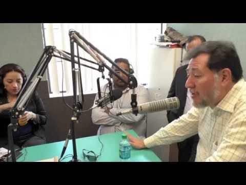 Entrevistan a Gerardo Fernandez Noroña en estacion de radio de Las Vegas