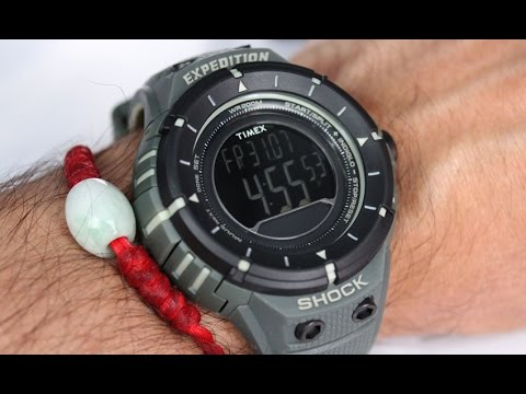 559709ef4596 Timex Watch T49612 Expedition Military Series Shock Digital Compass ...