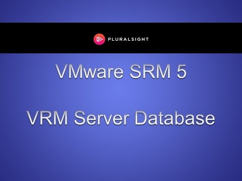 VMware SRM 5 - VRM Server Database and VRM Servers