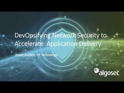DevOpsifying Network Security: AlgoSec - Ansible Demo