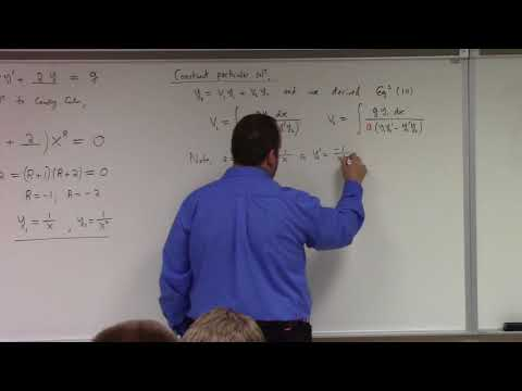 Differential Equations: end of nth order, start of systems, 10-3-17