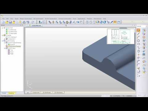 Part Modeler Video Tutorial - How to create a 3D model from a 2D drawing