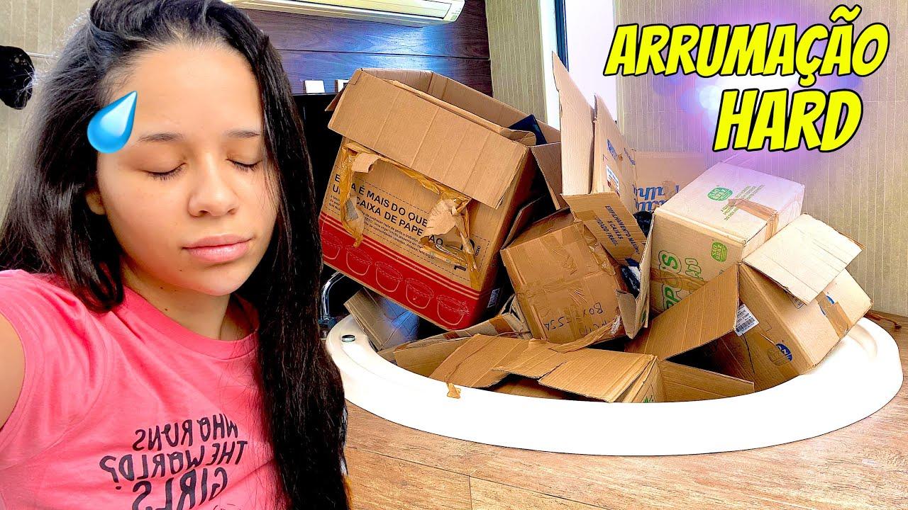 ARRUMANDO A CASA NOVA | muita caixa 😰