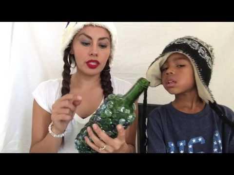 DIY Glass Bead Wine Bottle 🍾