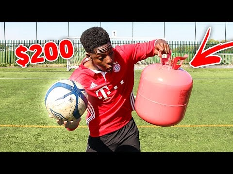 AMAZING HELIUM $200 FOOTBALL BATTLE
