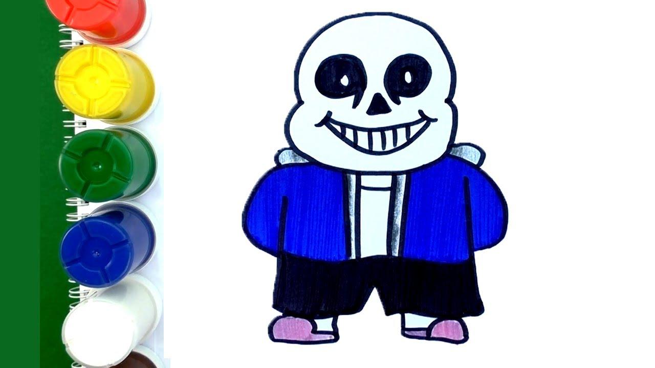 Como dibujar a Sans de Undertale Fácil - Dibujo para Niños - YouTube