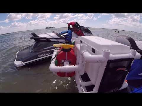 CUSTOM PWC FISHING COOLER RACK SETUP DIY PVC YAMAHA KAWASAKI SEADOO JET SKI WAVERUNNER
