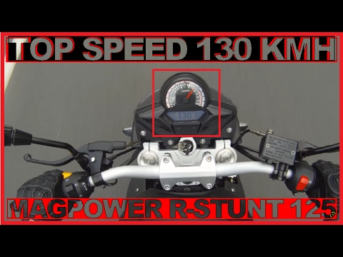 magpower r stunt 125 speed 130km h youtube. Black Bedroom Furniture Sets. Home Design Ideas