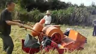 Mini Rice/Wheat Combine Harvester,gasoline/diesel power,mini farmer harvester