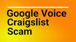 Google Voice Craigslist Scam