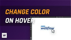 Change SVG Color with Hover Interaction - Webflow Tutorial!