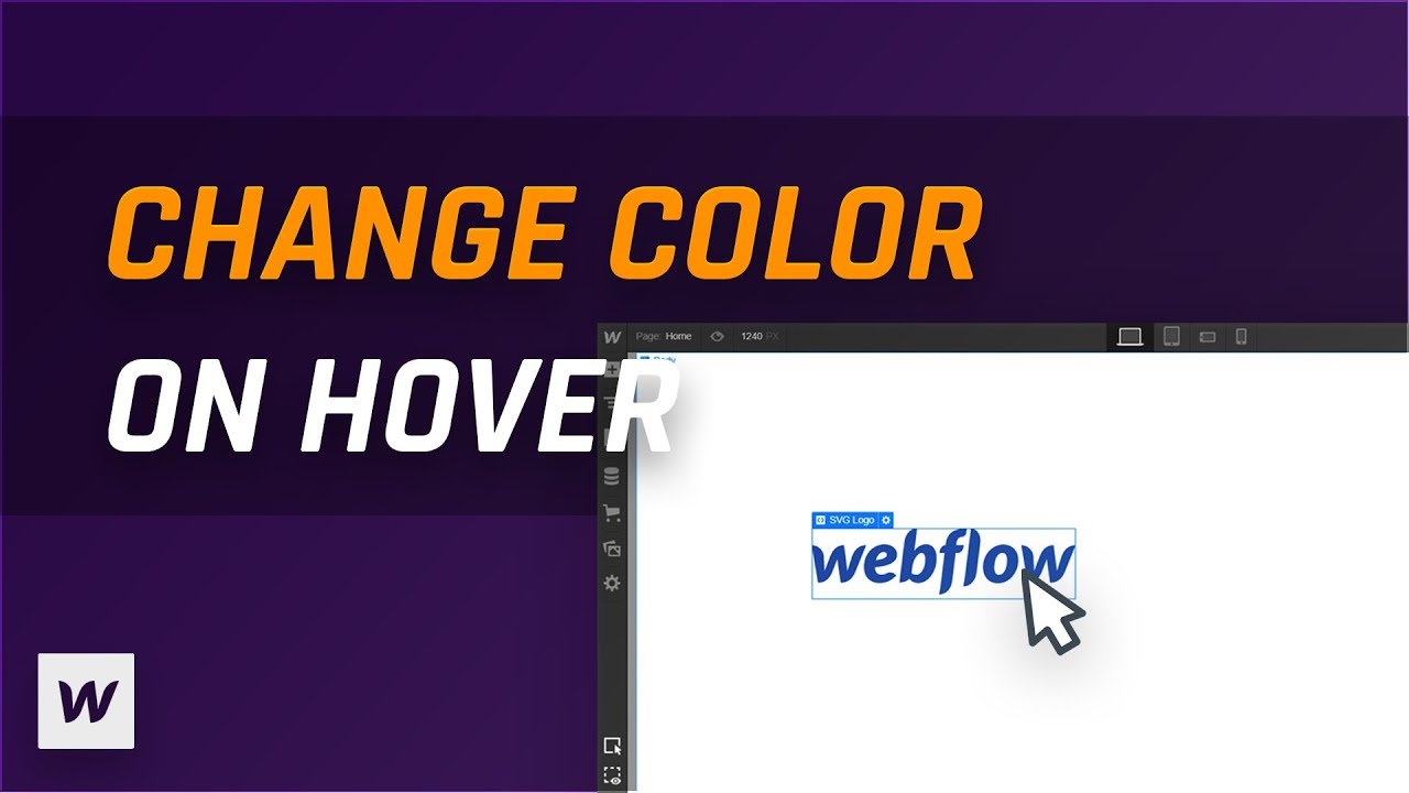 Change Svg Color With Hover Interaction Webflow Tutorial Youtube