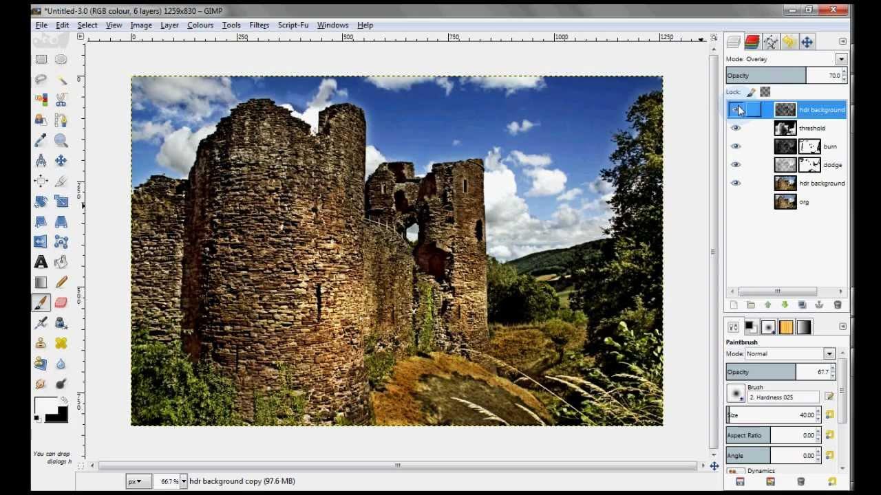 Pubg Fake Hdr: Fake HDR Photo Effect In GIMP