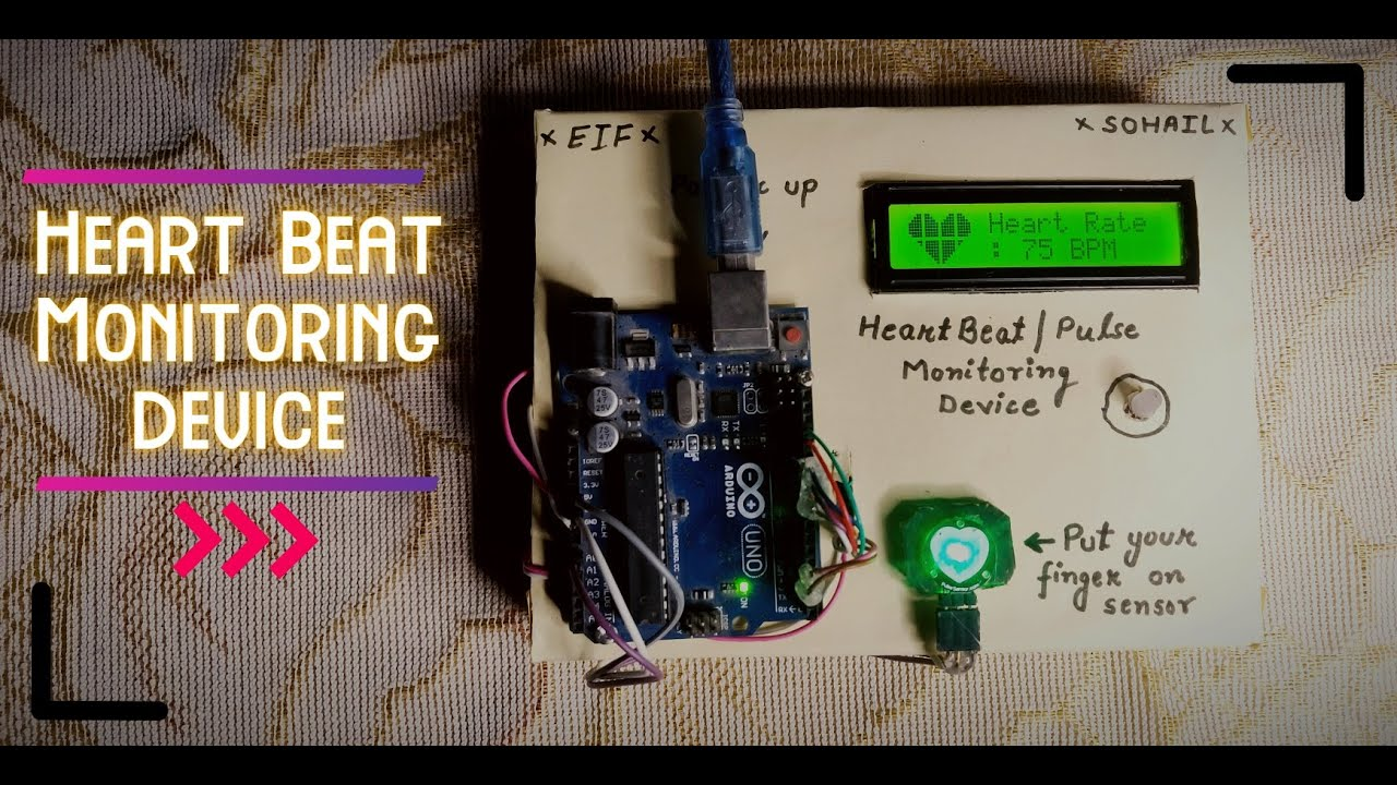 Download Heart Beat Monitoring Device using Arduino || #arduinoproject || EIF