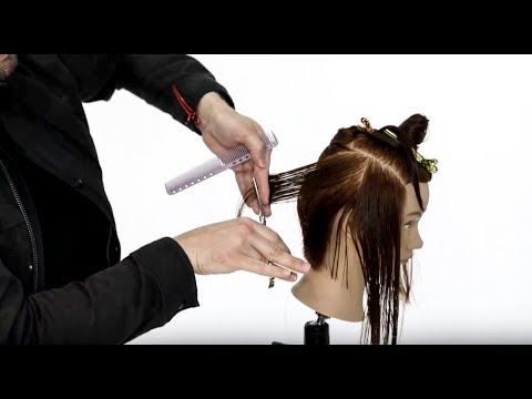 Cutting an A-line Bob Haircut 2018