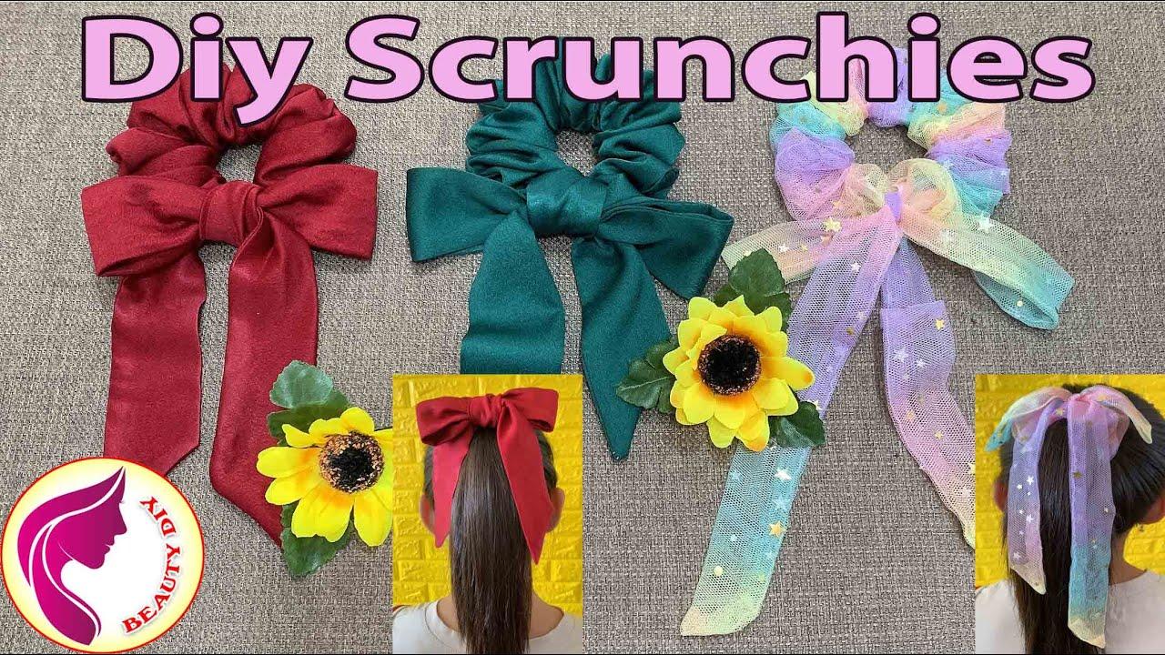 DIY Scrunchies   Making Hair Bows   Làm Cột Tóc Nơ   Beauty DIY