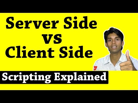 Server Side Scripting vs Client Side Scripting Explained in Hindi