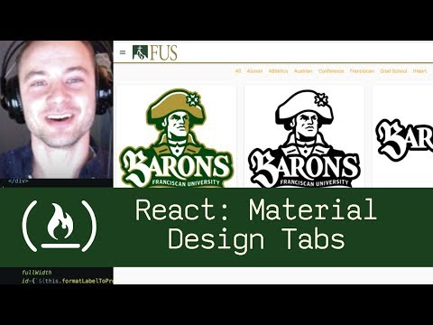 React: Material Design Tabs (P2D34) - Live Coding with Jesse