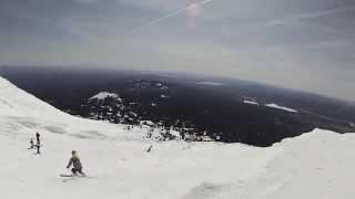 Mt Bachelor Oregon - Skiing off Summit Backside