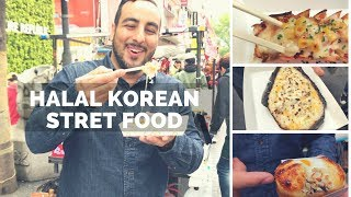 INSANE HALAL KOREAN STREET FOOD TOUR IN SEOUL! HUGE Street food tour of Myeongdang & Korean BBQ!