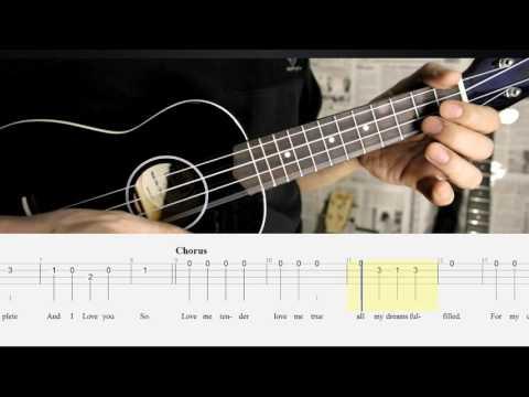 BEST Ukulele Lesson - LOVE ME TENDER  (Elvis) - Ukulele Solo Play A-Long w/TAB
