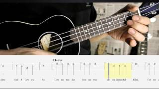BEST Ukulele Lesson - LOVE ME TENDER  (Elvis) - Ukulele Solo Play A-Long w/TAB