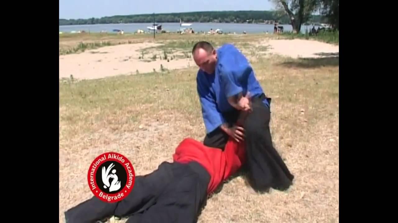 Aikido techniques by Bratislav Stajic:  Ushiro katatetori kubishime sankyo
