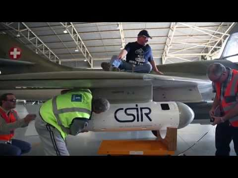 CSIR Electronic Warfare Test, Evaluation and Training pod takes to the skies