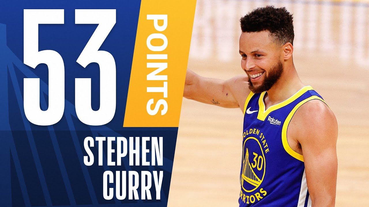 Steph Curry Posts 53 Pts On Historic Night Youtube