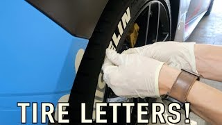How to Put Letters on Your Tires