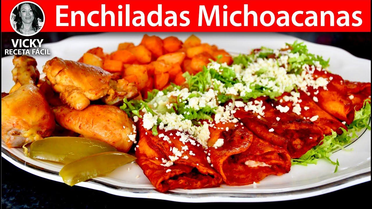 Enchiladas Michoacanas | #VickyRecetaFacil