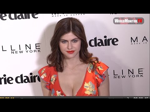 Alexandra Daddario at Marie Claire 2017 'Fresh Faces' Celebration Red carpet