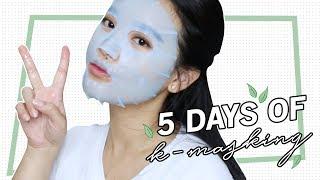✨ 5 DAYS OF K-MASKING WITH THE FACE SHOP 🇰🇷 | Myra Biusing